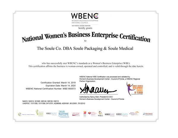 WBENC 2019 Certification sm